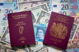 Ireland Irish Passport Britain British Passport
